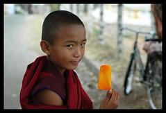 31 Orange Ice Candy (lighttripper) Tags: india asia religion tibetan karnataka mysore coorg namdroling kodagu bylakuppe bylekuppe incredibleindia bangaloreweekendshoots abigfave bsborange bpcprofile