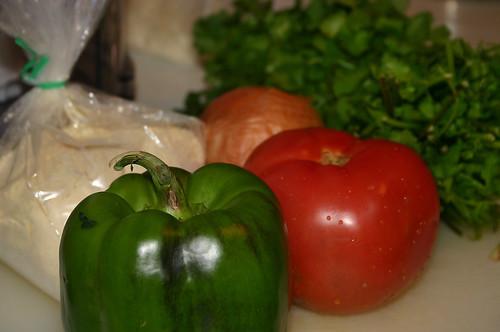 Besan Omelette ingredients