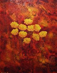 Rustic flowers (Tomas Kaspar) Tags: flower art texture floral colors painting landscape acrylic bright contemporary decorative craft imagination dreamscape
