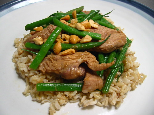 Pork, Cashew and Green Bean Stir Fry