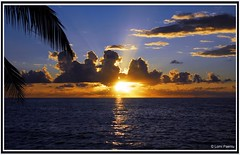 Just another sunset (L0M1) Tags: sunset water clouds horizon tuvalu