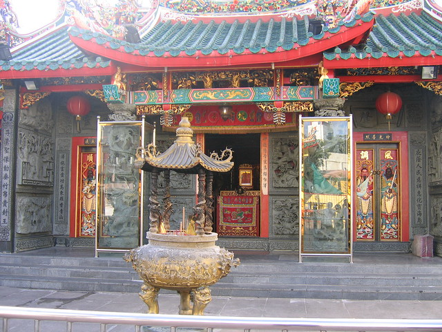 Colorful Chinese temple in Kuching