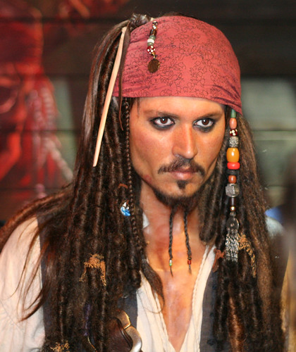 Johnny Depp as Cap'n Jack Sparrow
