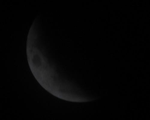 Mond mit Schatten der Erde