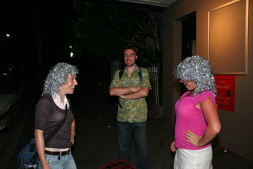 Two girls turn up wearing the same wig...
