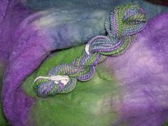 Dyed merino/silk roving