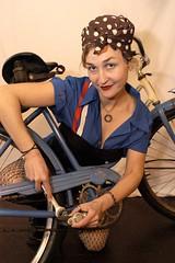 Gravity Girls Calendar (EthanPDX) Tags: up bicycle pin rosie zoobomb wecandoit riveter