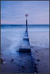 Groyne, Southbourne Beach (3) (rcadd) Tags: uk sunset sea seascape landscape twilight sand waves dusk dorset groyne