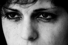 Glow* (Jordy B) Tags: portrait bw woman eye sadness tears femme nb oeil yeux triste maïa larme bwdreams