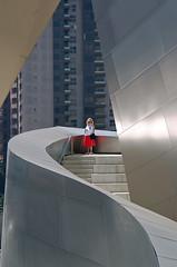 Urban mayhem...staircase to nowhere. - by Julian E...