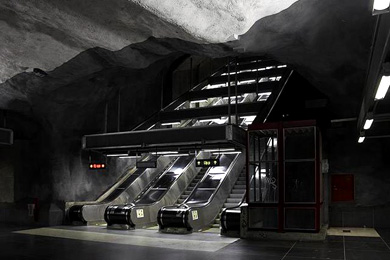 subway station in Stockholm 1