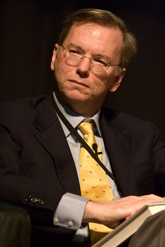 Eric Schmidt, Google CEO, image from Flickr.
