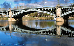 Salamanca Bridge (laurenz) Tags: travel bridge 15fav espaa reflection water architecture 1025fav 510fav reflections photography spain espanha wasser europa europe photos bridges espana reflected mirrored salamanca espagne 110fav spiegelbild spanien reflektion laurenz travelphotography gespiegelt laurenzbobke lbobke