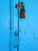 Blue-ishhh Door (mnadi) Tags: door wood old blue color colour macro colors closeup architecture handle nikon rust lock cyan lonely closeups أزرق cefalonia nikonstunninggallery