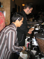 On the bar (dogmilque) Tags: ritual coffee roaster opening party stumptown bluebottle ecco caff espresso drunk