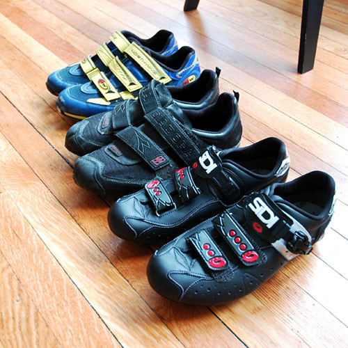 An archive of bike shoes