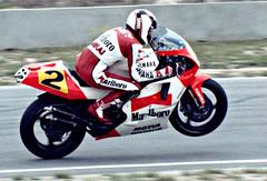 Wayne Rainey accelerating out of Turn 3, Laguna Seca, 1990 (artandscience) Tags: 1990 motogp rainey canon ae1 roadrace