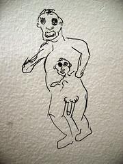 Artsy fartsy Bard bathroom graffiti ghoul - by Underpuppy