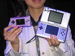Gameboy Micro and Nintendo DS (jon.peck) Tags: losangeles nintendo ds nintendods gameboymicro 2005e3 shigerumiyamoto