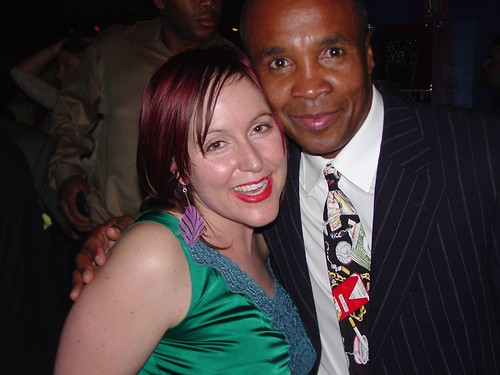 Sugar Ray Leonard and PopVulture At The Apprentice 2005 After Party
