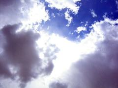 clouds and sky (madabandon) Tags: clouds sky blue white lookingup heavens colors shapes may burst shadows
