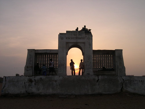 Sunset at Besant Nagar Beach