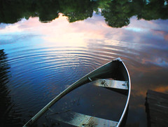 I've Watched the Ripples Change Their Size.. (OldhaMedia) Tags: lake water lost boat ripples avalon