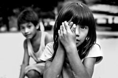 Angela shoots me ( Tatiana Cardeal) Tags: pictures 2005 brazil portrait people bw film southamerica topf25 festival brasil children photo parente native picture culture documentary forsakenpeo