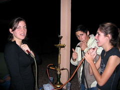 Zally, Aryan and Sheena hit the hookah.