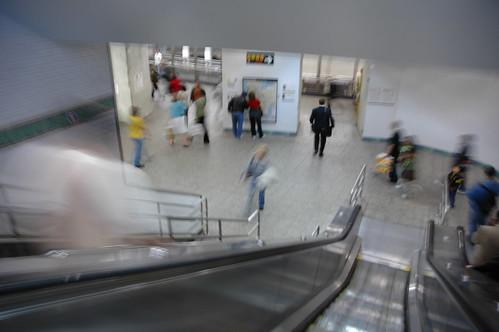 Times Square escalators