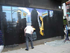 DSC00237 (pooptronica) Tags: ad blasters graffiti chicago axe lumpen