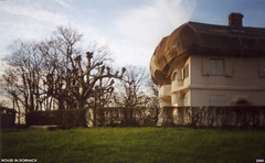 dornach house 2 (Dystopos) Tags: goetheanum steiner anthroposophy dornach switzerland house pollarded trees 2001 olympusxa