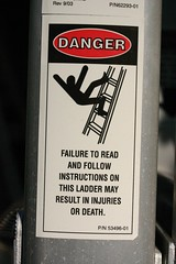 Do not fall from this ladder