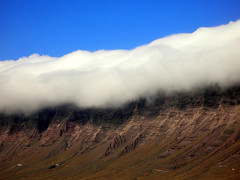 3 lines (eneko123) Tags: leica blue sky cloud brown white mountain color colour nature horizontal clouds landscape lumix spain scenery europe lanzarote canarias panasonic canaryislands dmc fx7 famara eneko crag eneko123 themesaturated