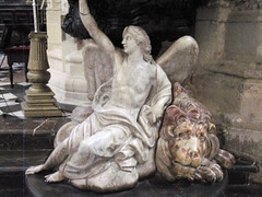 """Angel and lion marble statues (Saveena (AKA LHDugger)) Tags: vacation 15fav favorite statue angel religious spain all cathedral no religion lion lisa any h rights form written myfavorite without usage reserved allowed consent dugger """"© saveena"""""""