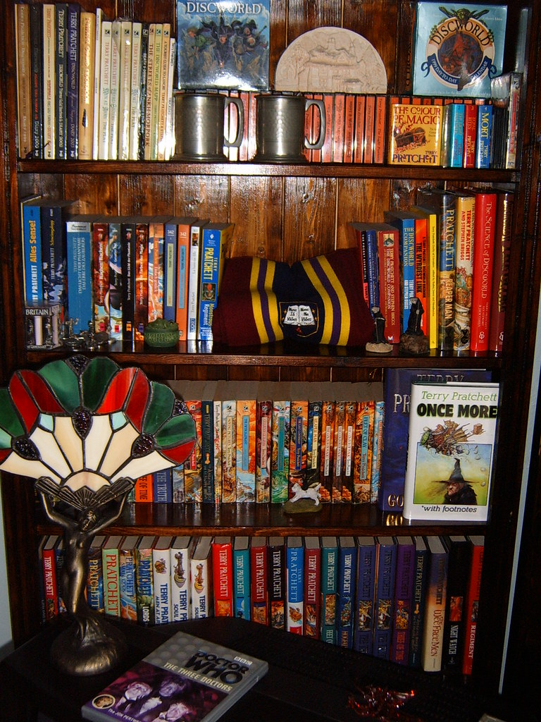 top four Pratchett shelves for novemerrayne