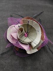 broche1 (lavomatic) Tags: flower fleur main fait tissu broches
