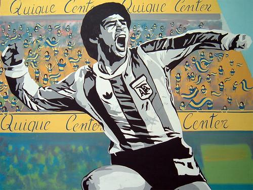 Graffiti of Diego Armando Maradona.