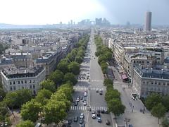 View along the Champs Elysees towards La Defense (ebatty) Tags: paris france geotagged arcdetriomphe geolat488553 geolon234632