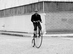Riding the High-Wheeler (ultramega) Tags: ordinary highwheeler bike antique bikes cycling bicycle riding andy vintage