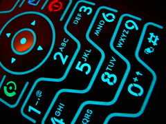 Luminosity (Sully Pixel) Tags: razr keypad backlight blue neon cameraphone motorola v3 glow glowing catchycolors popular