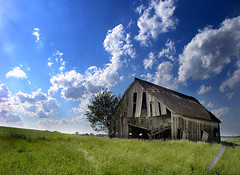 Loaded Down (Peloria) Tags: barn country landscape indiana clouds rural farm shack old forgotten abandoned mostinteresting