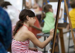 Young girl drawing (eugene) Tags: newyork artist girl drawing sketching museummile art