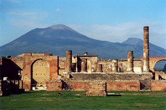 Vesuvius and Pompeii (Cameron Booth) Tags: 2003 italy mountain 1025fav wow geotagged volcano ruins europe forum pompeii vesuvius geo:lat=40749379367909 geo:lon=14484617112134