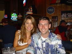 Nate and Marissa (Lumpy) Tags: hooters bachelor party bachelorparty knato natemeadows bar waitress badshirt