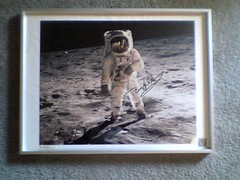 Buzz Aldrin signed photo