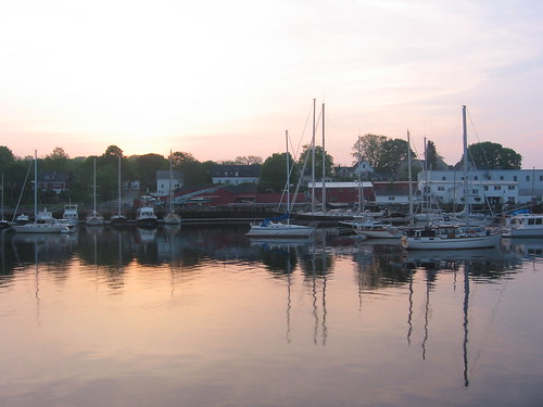 6AM sunrise at the marina, Camden, Maine