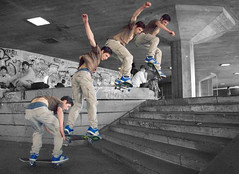Switch 180 at South Bank (BombDog) Tags: boy london topf25 photography jump southbank skateboard topf100 jonlucas jonathanlucas