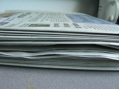 How many trees make one newspaper?
