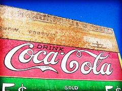 Drink Coca-Cola - Lomoized (Kymberlie R. McGuire) Tags: sonycybershot camera sonycybershotdscp71 mural building wall cocacola coke lomoized catchycolors fakelomo effects 15fav wow galveston wallpaper wallpapers bathed fantastic